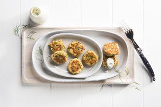 Salmon and potato cakes