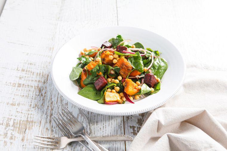 Roast Vegie and Chickpea Salad