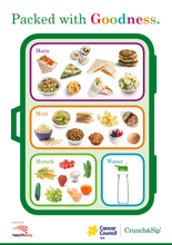 Healthy lunchbox handout - A4 (6915)